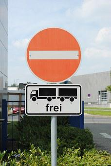 One Way Street, Driving Ban, Street Sign