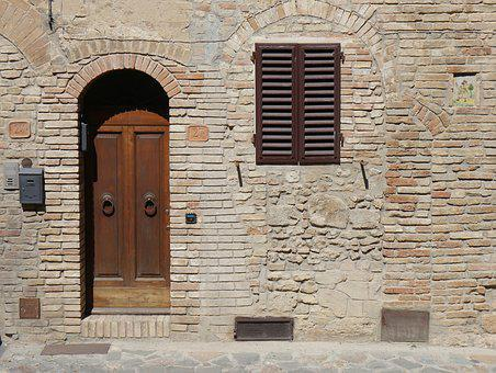 Door, Doorway, Italy, Entrance, Home, House, Building