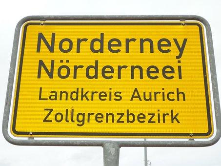 Entrance, Norderney, Street Sign