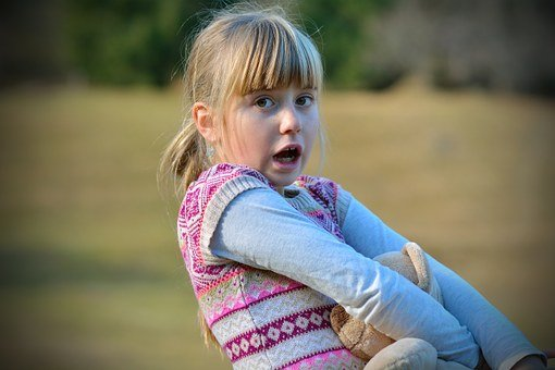 Child, Girl, Face, Blond, Frightened