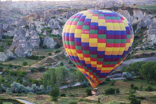 Balloon, City, Tr, Fun, Happy, Holiday, Flying