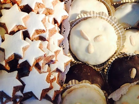 Gingerbread, Cinnamon Stars, Cookie, Christmas