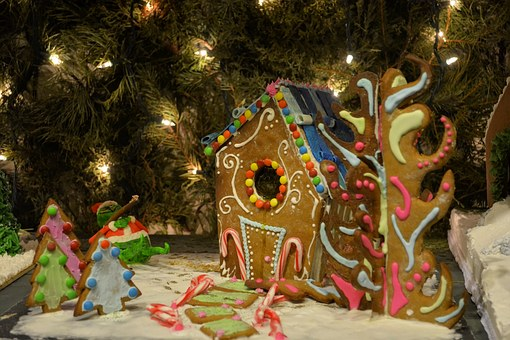 Gingerbread House, Gingerbread, Christmas, Festive