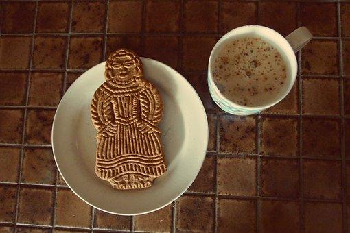 Gingerbread, Gingerbread Man, Mug, Coffee, Cappuccino