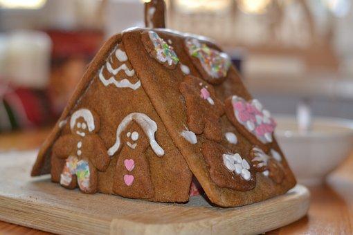 Gingerbread House, Christmas, Christmas Time, Boys
