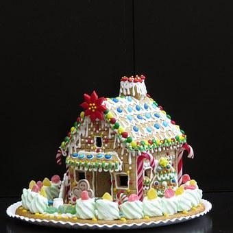Gingerbread House, Christmas Pastries, Decoration