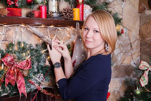 Holiday, Christmas, New Year's Eve, Woman, Girl, Young