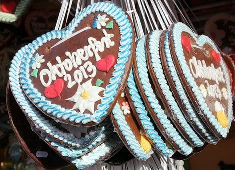 Gingerbread, Heart, Oktoberfest, Chocolate, Food, Shape