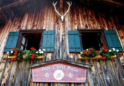 Alpe, Hut, Alm, Mountain Hut, Alpine Hut, Timber Façade