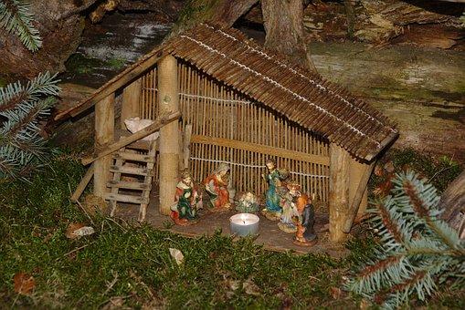 Crib, Krippenweg, Jesus, Advent, Christmas