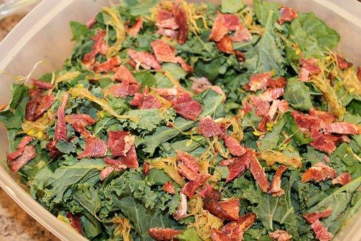 Salad, Kale, Healthy, Organic