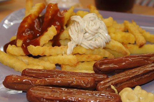 Ham Sausage, French, Mustard, Ketchup, Remoulade Sauce