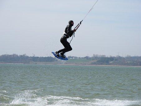 Helium, Peninsula, Hel, Kite, Kite Surfer, Flying