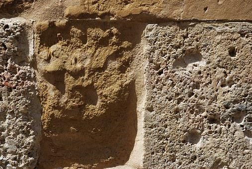 Medieval, Characters, Lion, Wall, Icon, Ochre, Stone