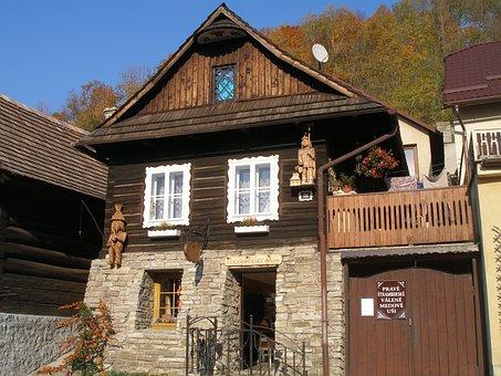 Log Cabin, Wooden House, štramberk, štramberk Ears