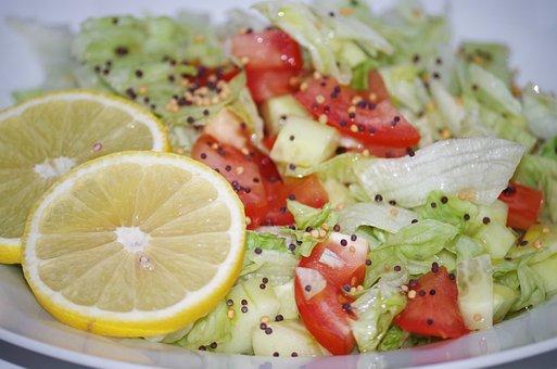 Vegetable Salad, Mustard Sememá, Lemon, Healthy Food