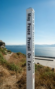 Spain, Cape Finisterre, Peace, Message