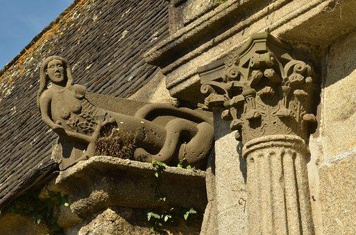 Figure, Woman, Pillar, Column, Faith, Religion, Church