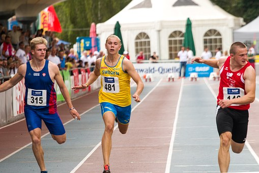 Athletics, 100 M Run, Sport, Junior Gala Mannheim