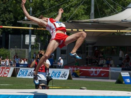 Sport, Athletics, High Jump, Junior Gala Mannheim