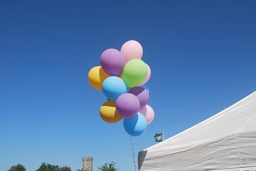 Balloons, Sky, Fair, Festive, Fun, Summer, Fly