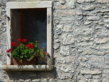 Window, Flowers, Decor, House, Stonewall, Traditional