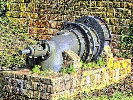 Pump, Water Pump, Machine, Tube, Water, Old, Metal