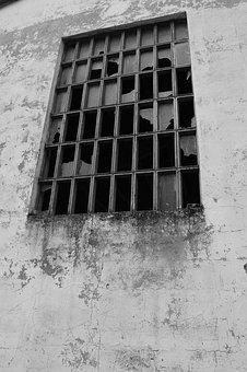 Windows, Manufactures, Ruin, Broken, Glasses, Wall