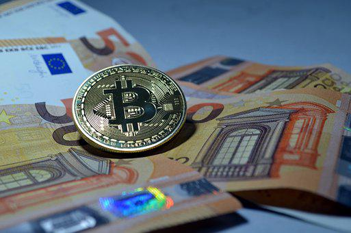 Coin, Bitcoin, Euro, Cryptocurrency, Money, Currency