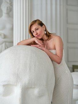 Wedding Dress, Bride, Sculpture, White Dress
