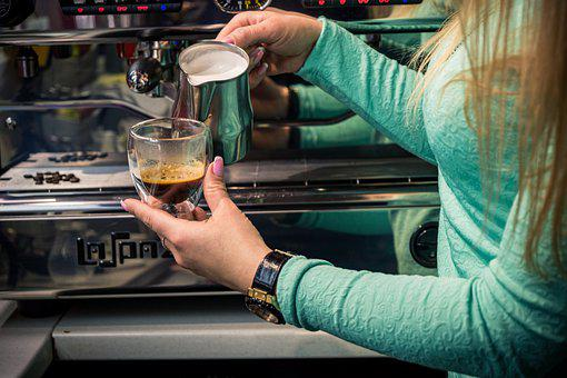 Barista, Woman, Coffee Making, Coffee, Cup, Girl, Young