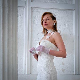 Wedding Dress, Bride, Fashion, Style, Gloves, Elegant