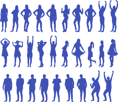 Women, Men, Silhouette, People, Female, Male, Girls