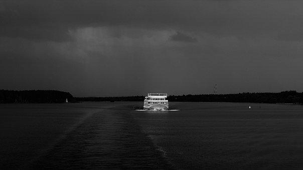 Ship, Sea, Thunderstorm, Travel, Cruise, Ocean, Water