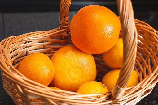 Oranges, Basket, Organic, Citrus, Vitamins, Healthy