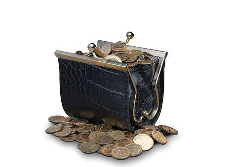 Coins, Purse, Wallet, Money, Currency, Change, Cash