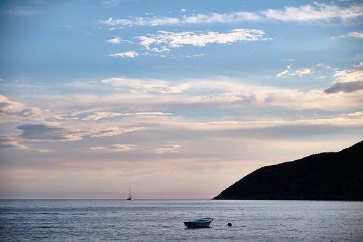 Boat, Sea, Ocean, Sailboat, Sailing Boat, Mountain