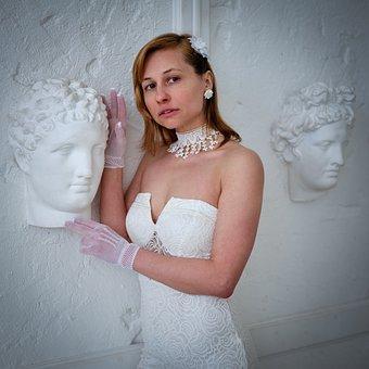 Fashion, White Dress, Bride, Woman, Gloves