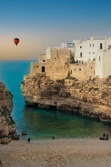 Sea, Sand, Beach, Coast, Hot-air Balloon, Balconies