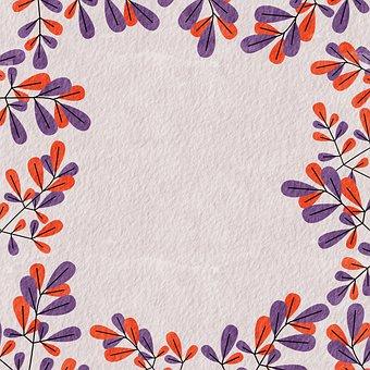 Floral, Border, Frame, Pattern, Vintage, Digital Paper
