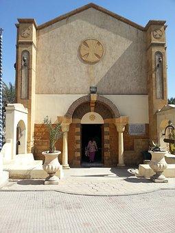 Church, Tomb, Entrance, Facade, Cairo