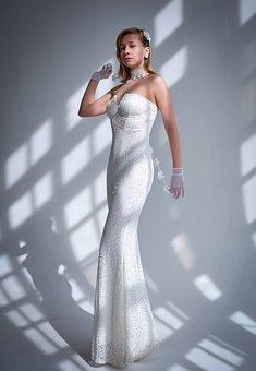 Woman, Bride, Wedding, Dress, Fashion, Style, Cyclorama