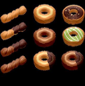 Donuts, Sweets, Sprinkles, Sugar, Chocolate, Hanukkah