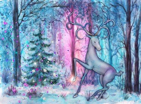 Deer, Forest, Gems, Animal, Magical Deer, Fabulous Deer