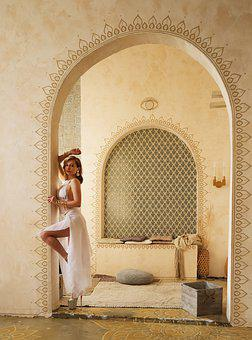 Arch, Arabic Style, Moroccan Style, Richly, Dancer