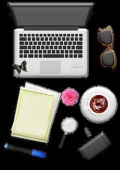Laptop, Sunglasses, Paper, Pen, Desktop, Cell Phone