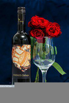 Wine, Roses, Glass, Rose, Event, Romantic, Drink, Party