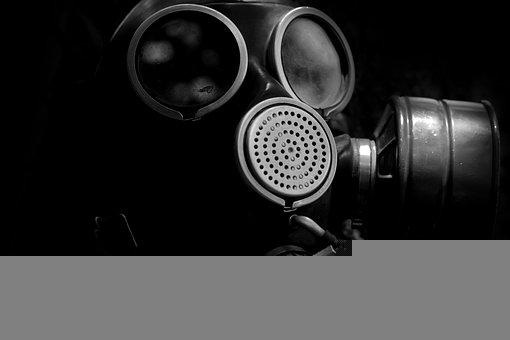 Gas Mask, Mask, Gas, Scary, Horror, Death, Smoke, Evil