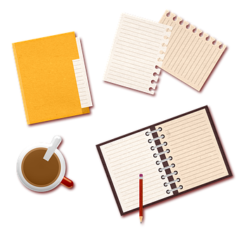 Book, Coffee, Pencil, Stamps, Journal, Office Supplies
