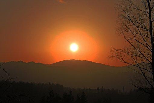 Sunrise, Sunset, Sky, Sun, Landscape, Scenery